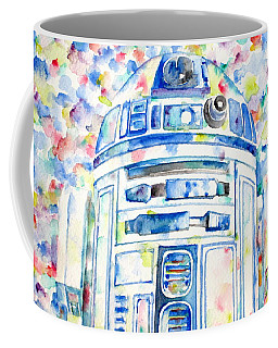R2-d2 Watercolor Portrait.1 Coffee Mug