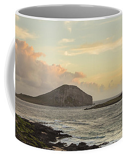Coffee Mug featuring the photograph Rabbit And Turtle Island At Sunrise 1 by Leigh Anne Meeks