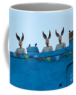 Rabbit People On A Roof In New Orleans Louisiana #1 Coffee Mug by Michael Hoard