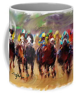 Race To The Finish Line Coffee Mug by Ted Azriel
