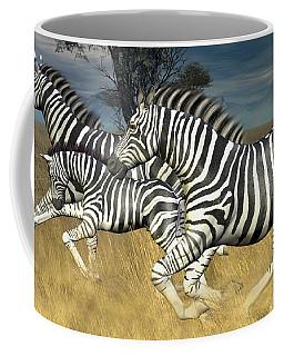 Coffee Mug featuring the digital art Racing Stripes by Jayne Wilson