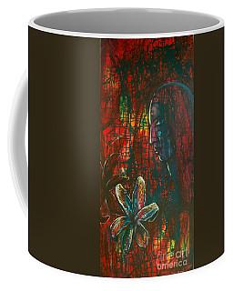Coffee Mug featuring the painting Radiating Light by Mini Arora