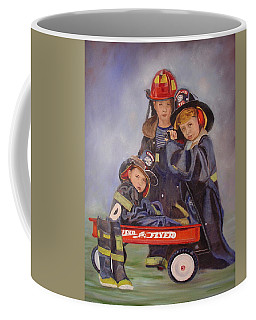 Coffee Mug featuring the painting Radio Flyer by Sharon Schultz