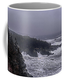 Raging Fury At Quoddy Coffee Mug by Marty Saccone
