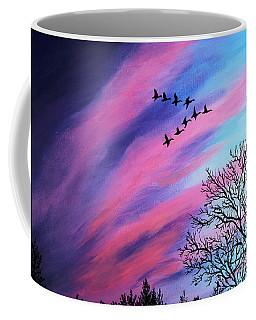 Raging Sky And Canada Geese Coffee Mug