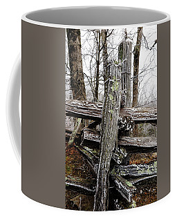 Rail Fence With Ice Coffee Mug