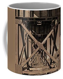 Railroad Trestle Sepia Coffee Mug