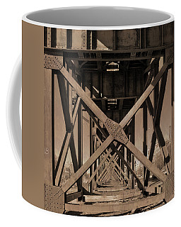 Railroad Trestle Sepia Coffee Mug