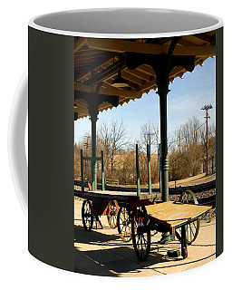 Coffee Mug featuring the photograph Railroad Wagons by Denise Beverly