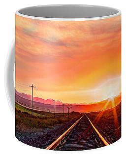 Rails To The Red Sky Coffee Mug