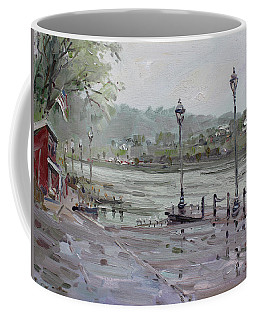 Rain In Lewiston Waterfront Coffee Mug
