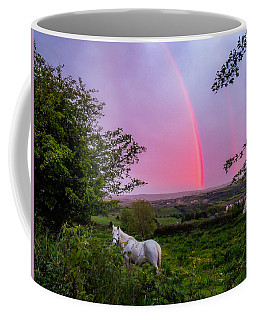 Rainbow At Sunset In County Clare Coffee Mug