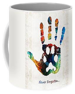 Rainbow Bridge Art - Never Forgotten - By Sharon Cummings Coffee Mug