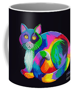 Rainbow Calico Coffee Mug by Nick Gustafson