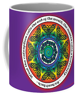 Rainbow Celtic Butterfly Mandala Coffee Mug
