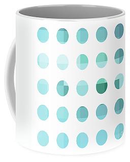 Rainbow Dots Aqua  Coffee Mug