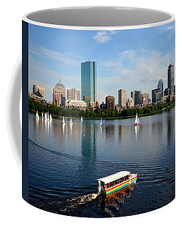 Rainbow Duck Boat On The Charles Coffee Mug