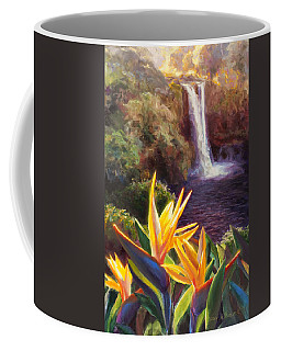 Rainbow Falls Big Island Hawaii Waterfall  Coffee Mug