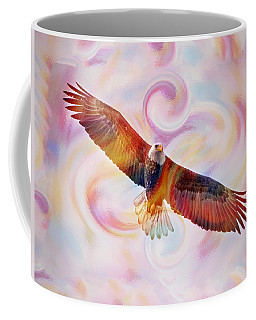 Rainbow Flying Eagle Watercolor Painting Coffee Mug