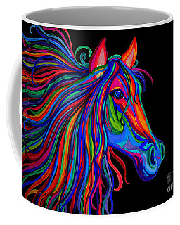 Rainbow Horse Head Coffee Mug by Nick Gustafson