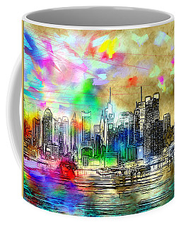 Rainbow Nyc Skyline Coffee Mug