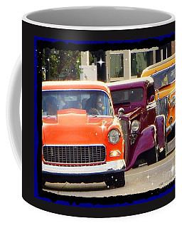 Coffee Mug featuring the photograph Rainbow Of Cruisers Poster Print by Bobbee Rickard
