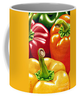 Rainbow Of Peppers Coffee Mug