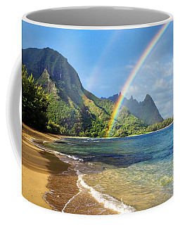 Rainbow Over Haena Beach Coffee Mug