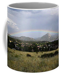 Rainbow Over Lake Estes Coffee Mug