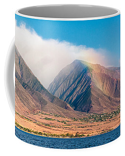 Rainbow Over Maui Mountains   Coffee Mug