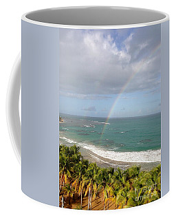Coffee Mug featuring the photograph Rainbow Over Palms by The Art of Alice Terrill