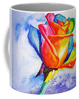 Rainbow Rose Coffee Mug