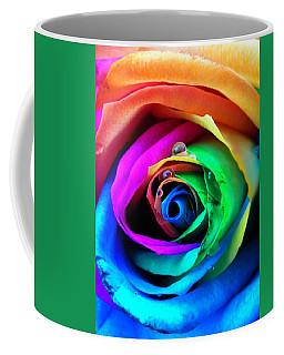 Rainbow Rose Coffee Mug