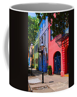 Rainbow Row Charleston Coffee Mug by Skip Willits