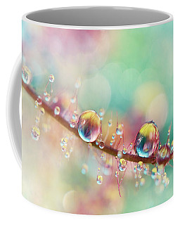 Rainbow Smoke Drops Coffee Mug