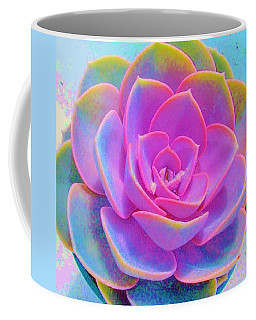 Rainbow Succulent Coffee Mug