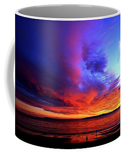 Coffee Mug featuring the photograph Rainbow Sunset by Sue Halstenberg