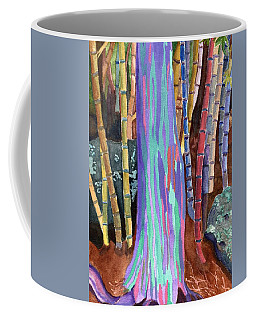 Coffee Mug featuring the painting Rainbow Tree by Lynne Reichhart