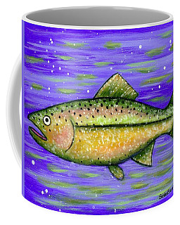 Coffee Mug featuring the painting Rainbow Trout by Sandra Estes