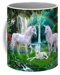 Rainbow Unicorn Family Coffee Mug