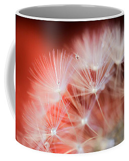 Raindrops On Dandelion Red Coffee Mug