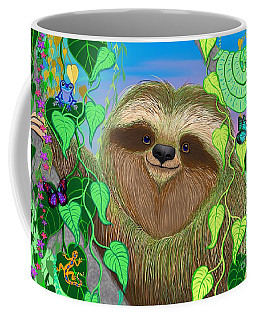Rainforest Sloth Coffee Mug by Nick Gustafson