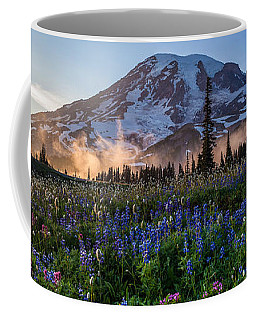 Rainier Wildflower Meadows Pano Coffee Mug