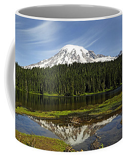 Coffee Mug featuring the photograph Rainier's Reflection by Tikvah's Hope