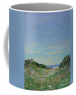 Rainy Day Beach Blues Coffee Mug by Gail Kent