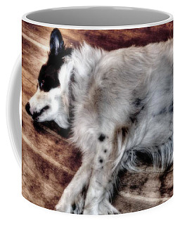 Coffee Mug featuring the digital art Rainy Day Dog by Aliceann Carlton