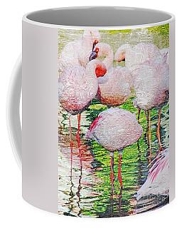 Rainy Day Flamingos 2 Coffee Mug