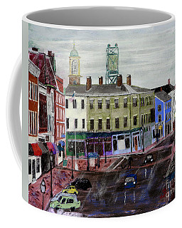 Rainy Day On Market Square Coffee Mug
