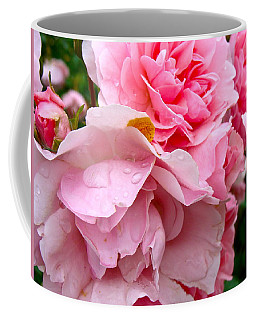 Coffee Mug featuring the photograph Rainy Day Roses by Ira Shander