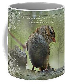 Rainy Day Sparrow With Verse Coffee Mug